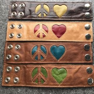 GYPSYSKIN Jewelry - Leather ☮️❤️ SECRET POCKET Wrist Snap Bracelets
